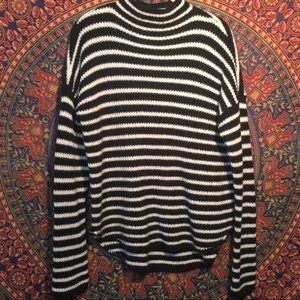EXPRESS Striped Mock Neck Sweater